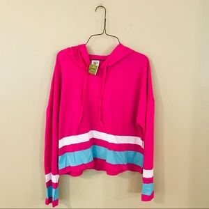 NWT Pink Blue and White Hoodie